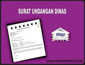 Gambar Contoh Surat Undangan Dinas