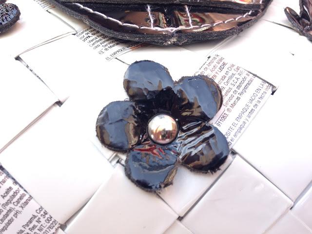 Nahui Ollin Arm Candy - wrappers and flowers - Hello, Handbag