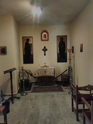 Πρώτη Θεία Λειτουργία στο παρεκκλήσιο των Οσίων Νεοφανών Πατέρων