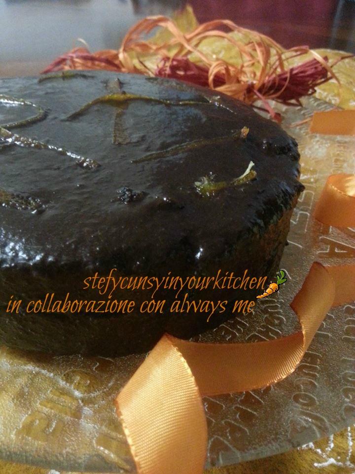 Torta nuziale vegan arancia e cioccolato -
