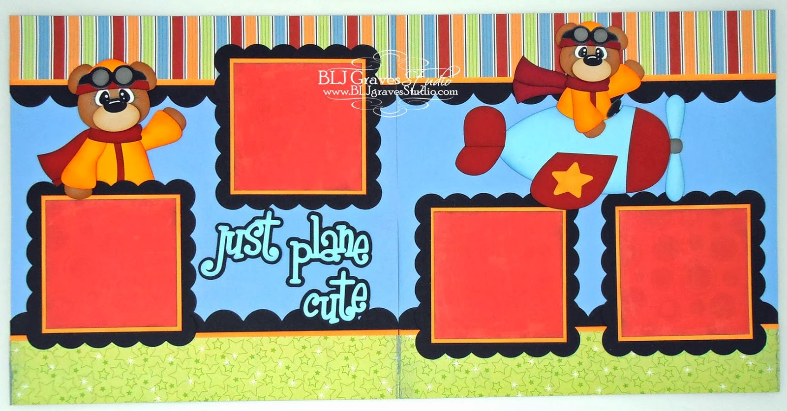 How to design scrapbook layouts - I Used Plane Cute Cutting File From Designs On Cloud 9 For This Layout