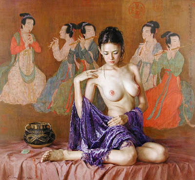 mujeres-asiaticas-al-oleo