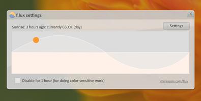 برنامج مجانى لضبط إعدادات عرض الالوان علي شاشة جهازك تلقائياً لويندوز ولينكس وماك f.lux-3-9