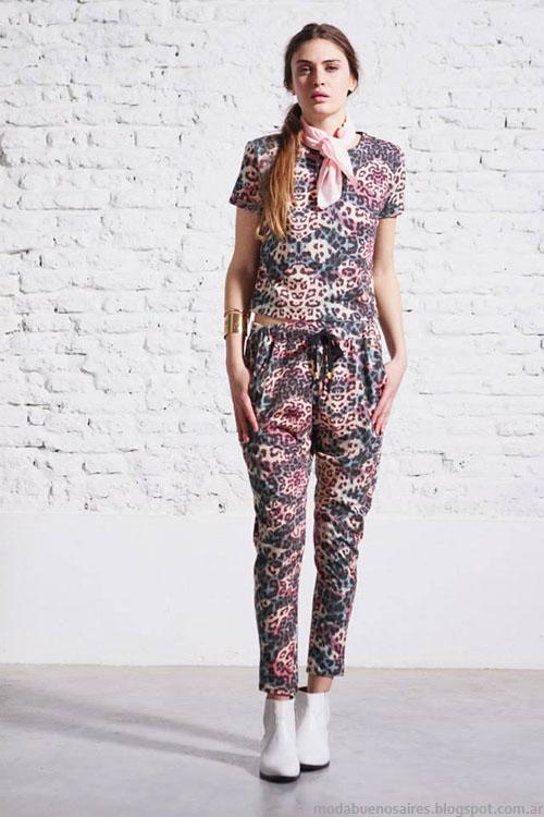 Moda estampas florales y tropicales primavera verano 2015 Melocotón ropa.