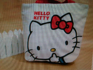 Tas Kanvas hello kitty
