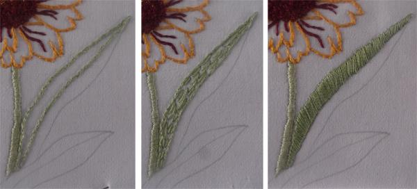 κέντημα λουλουδιού