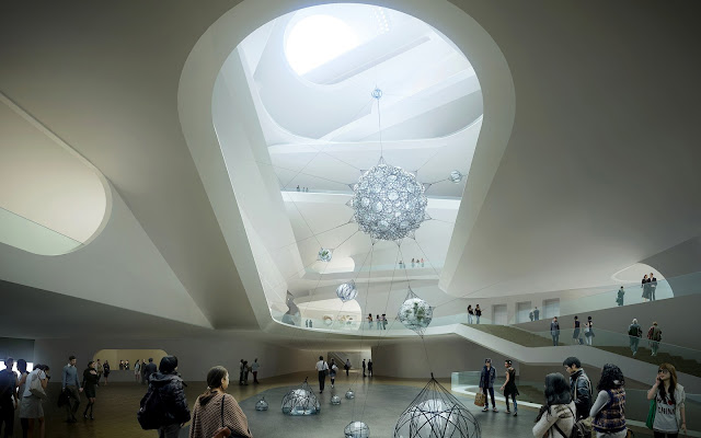 Photo of lobby inside of new museum