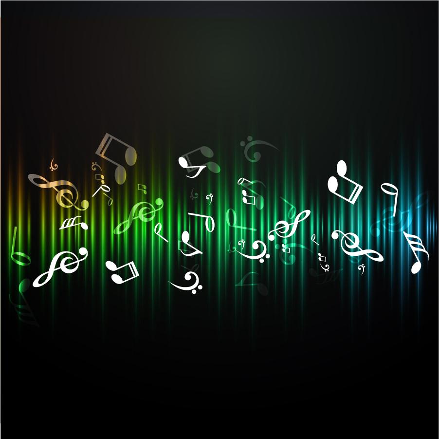 音符を散りばめた背景 light notes symbols background イラスト素材