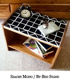 Nocny stolik - Szachy Mono By-bed Stand