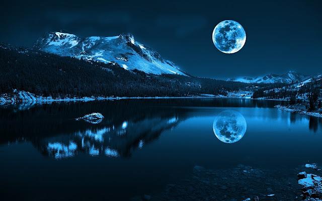 Blue Lunar Landscape