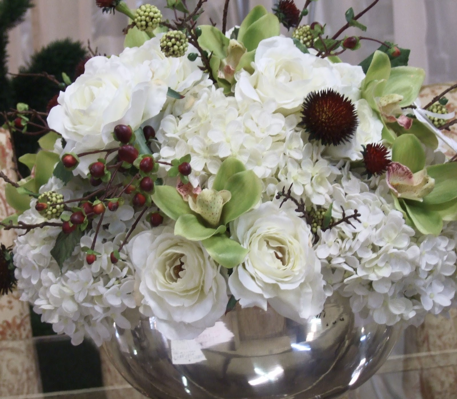 Ana Silk Flowers Pictures Silk Flowers White