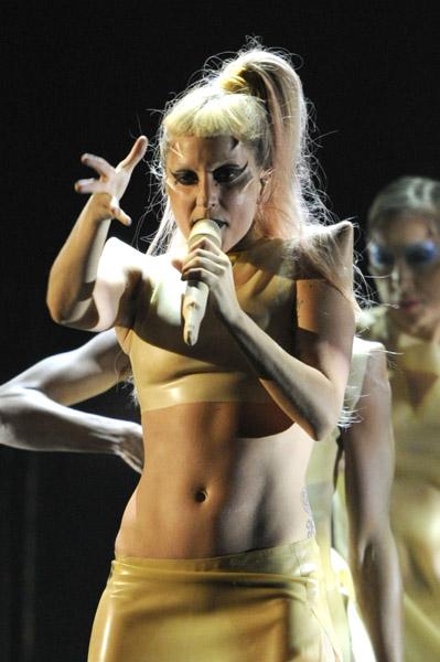 Lady Gaga Grammy Egg Dress. Onstage, Lady gaga, ended up
