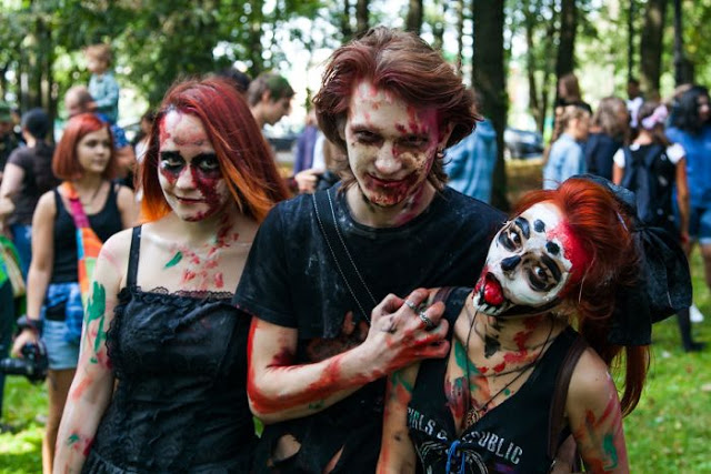 Zombie Walk at St.Petersburg