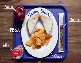 Conoce que almuerzan los alumnos en algunos países del mundo