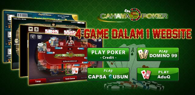 Cahayapoker.com Situs Agen Judi Poker Dan Domino Uang Asli Online Terpercaya Indonesia