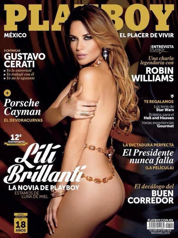 Lili Brillanti portada Revista Playboy Octubre 2014