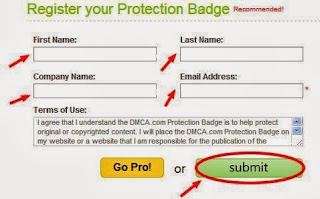 Cara Daftar dan Memasang DMCA Protection