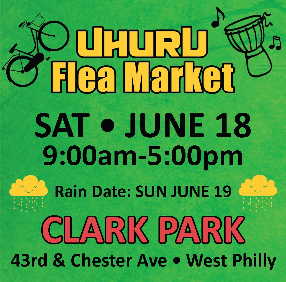 Uhuru Flea Market - SAT JUNE 18th!