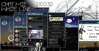 Download BBM THEME WHITE LINE TRANSPARANT V2.10.0.30 apk
