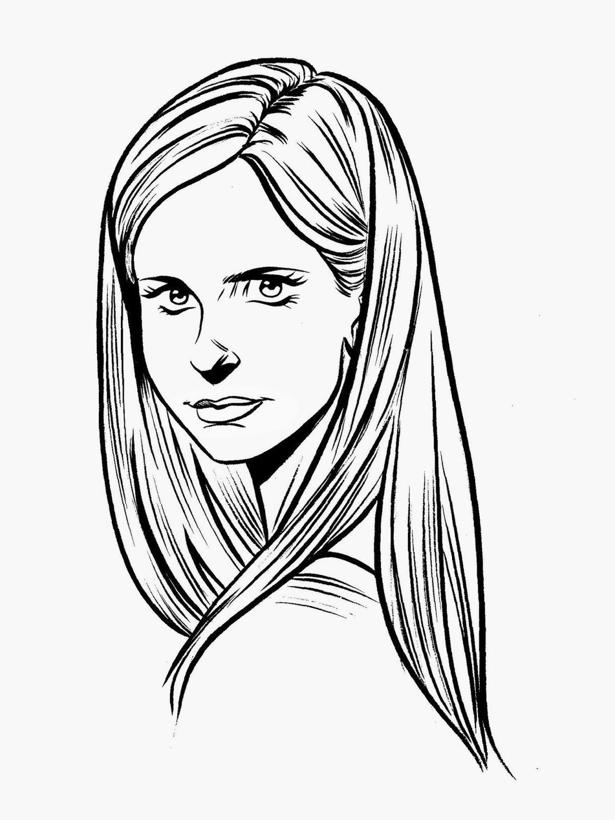 Buzzing over bombshell looking ahead part 2 buffy the for Buffy coloring pages