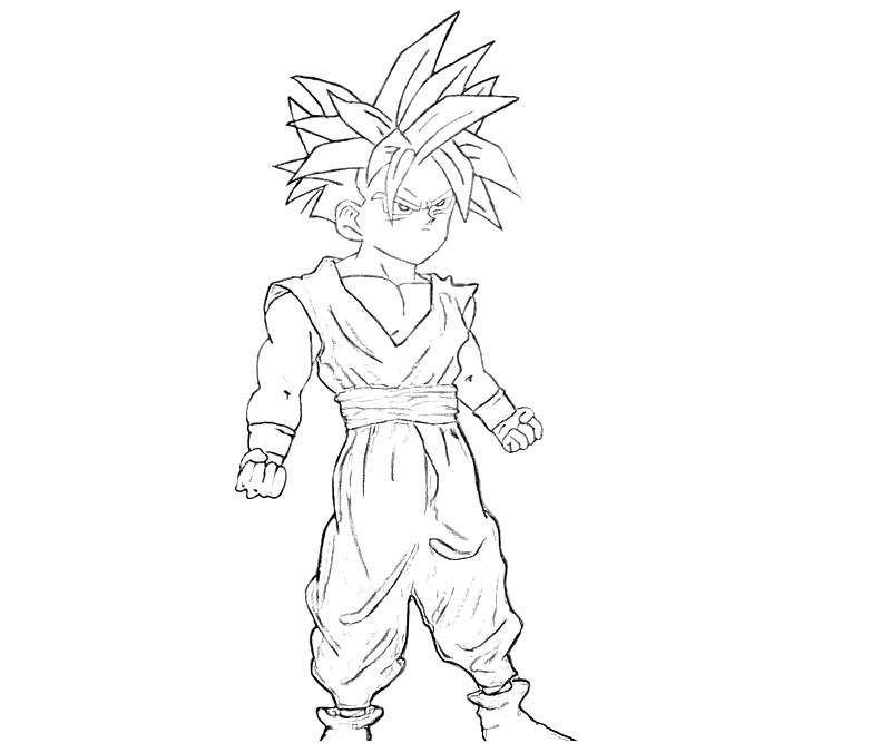 Printable Gohan Funny Coloring Pages