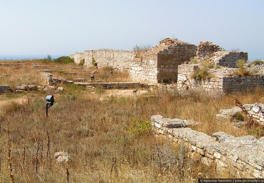 Развалины древнего города на мысе Калиакра, Болгария