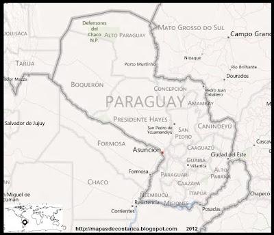 Mapa de PARAGUAY, BING