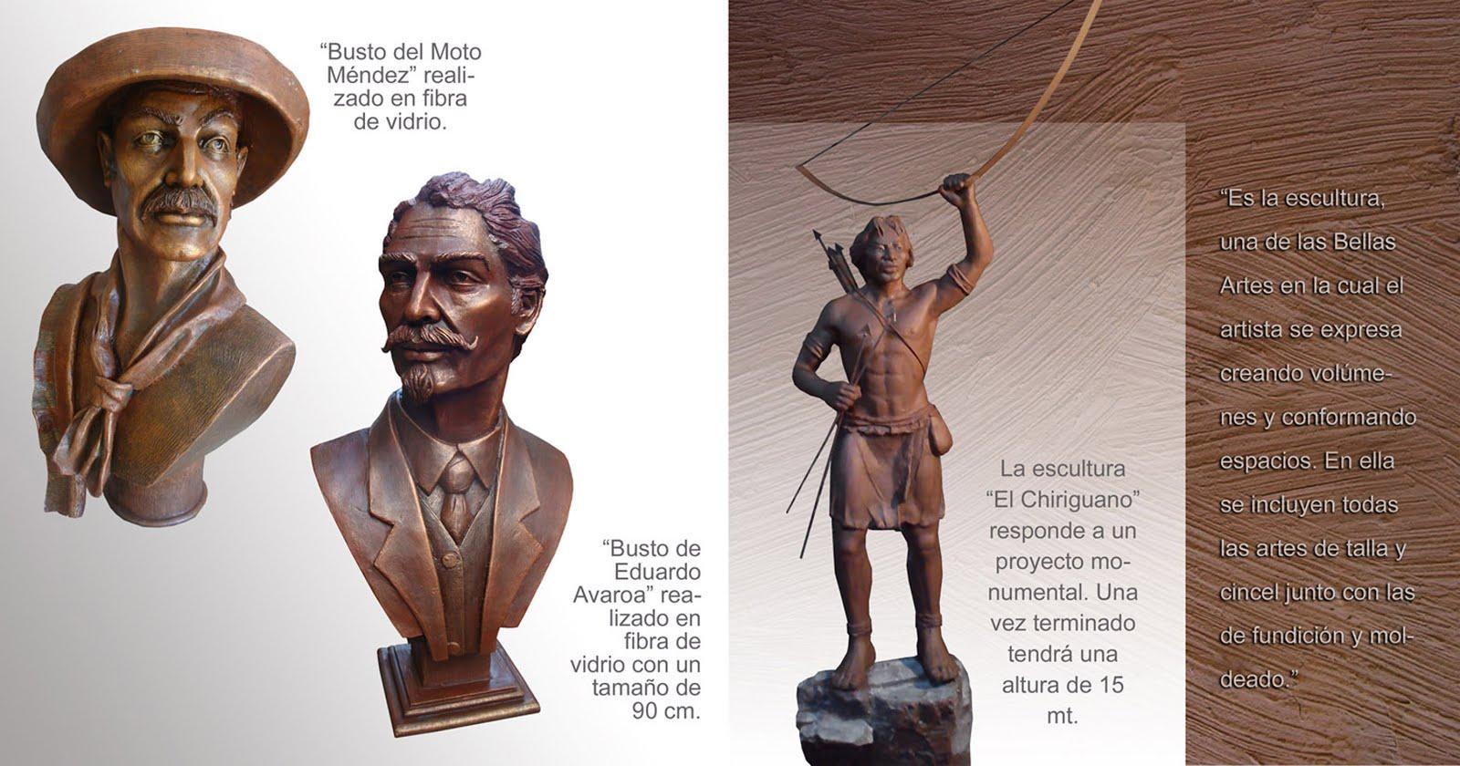 Bustos y esculturas