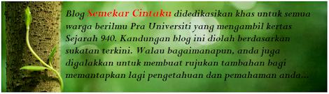 Blog Sejarah STPM Baharu: Semekar Cintaku