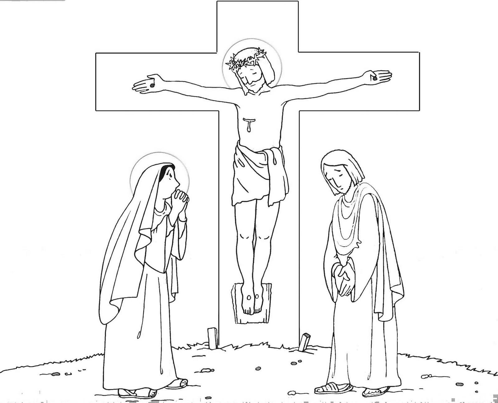 Portal Escuela Hijo he ahi a tu madre. Jesus crucificado dibujo para ...