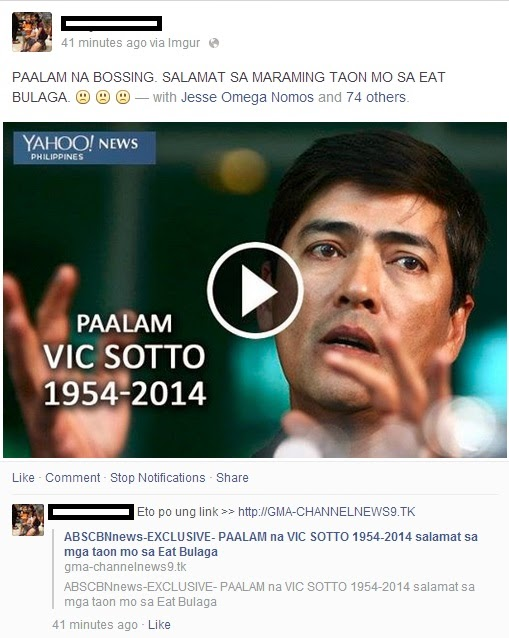About Vic Sotto False News Dead Hoax