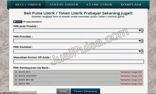 Form Pembelian Jualpulsa.com