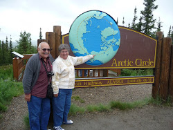 Me and Lee at the Arctic Circle