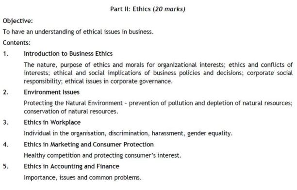 PAPER 2 - CA IPC BUSINESS LAWS ETHICS AND COMMUNICATION   SYLLABUS