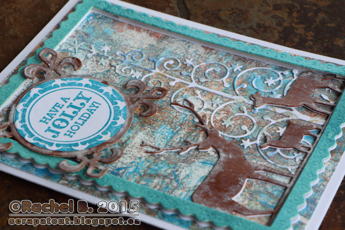 Holiday Card, Impression Obsession, Memory Box, Hero Arts,Spellbinders