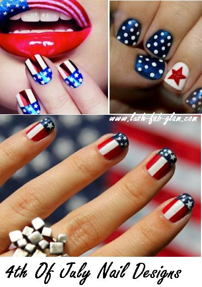 Get Patriotic With Red White & Blue Nail Art Designs. - Lush Fab Glam Blogazine: Get Patriotic With Red White & Blue Nail