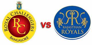 Rajasthan Royals vs Royal Challengers Bangalore Live