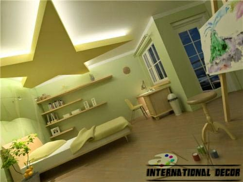 bedroom lighting ideas, bedroom lights, suspended ceiling