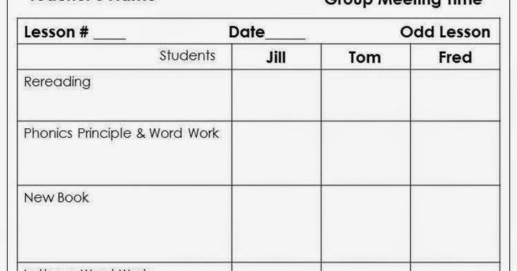 Tips Ideas From Anne Gardner Planning For RtI Groups In The - Rti lesson plan template