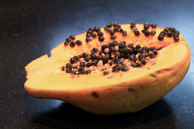 Carica Papaya - Cut Open