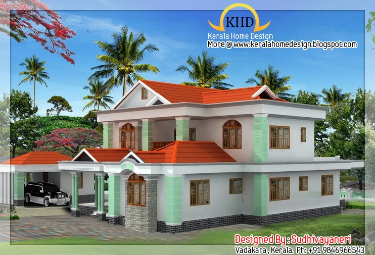 House elevation 2700 sq ft home appliance for 2700 sq ft house plans
