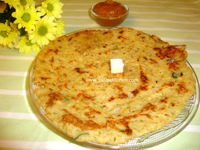 Wheat Rava Adai recipe/  Sambha Godhumai Rava Adai recipe / Broken Wheat Adai Recipe -A Healthy Breakfast Recipe