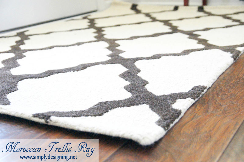 Moroccan Trellis Rug | new Moroccan Trellis Rug for my front entrance | #decorating #homedecor #rugs