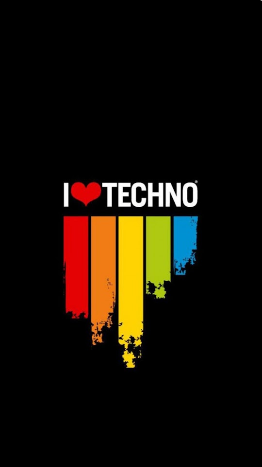 I Love Techno   Galaxy Note HD Wallpaper