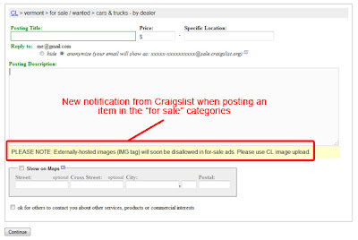 PLEASE NOTE: Externally-hosted images (IMG tag) will soon be disallowed in for-sale ads. Please use CL image upload.