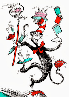 cat in the hat juggling, science fiction author