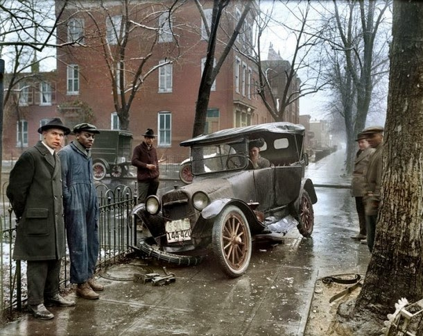 28 Realistically Colorized Historical Photos Make the Past Seem Incredibly Alive - Washington D. C., 1921
