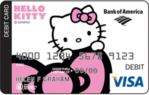 Bank Of America Card Designs Hello Kitty Debit