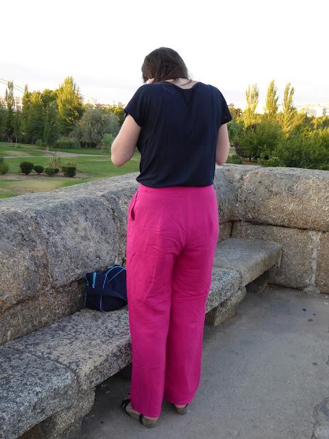 modistilla de pacotilla pantalones linen flax ottobre woman 02/2015 lino rosa