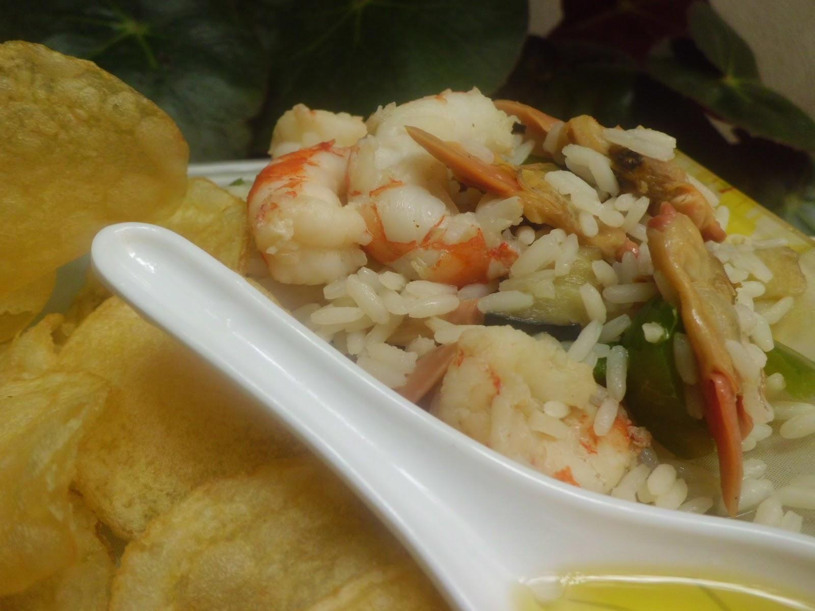 Mi adorable cocina arroz delicias con gambas y almejas - Arroz con gambas y almejas ...